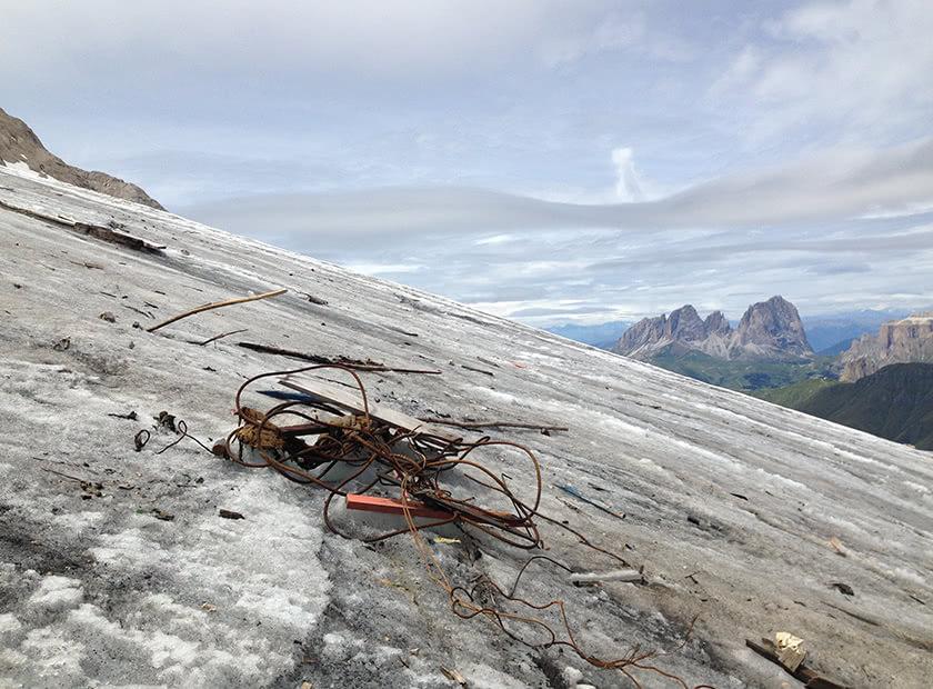 rifiuti ghiacciaio marmolada