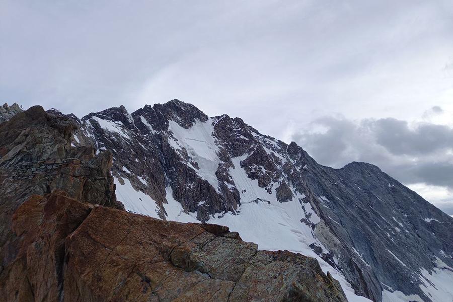 Vista della cresta del Monte Disgrazia - Foto @Eva Toschi