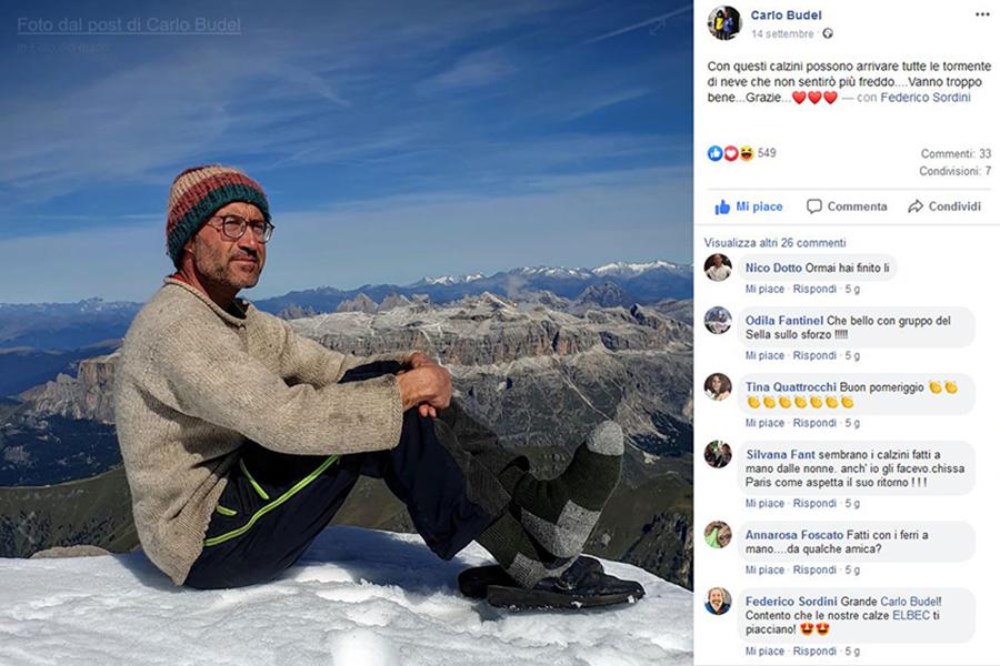Post di Carlo Budel sul suo Profilo FB