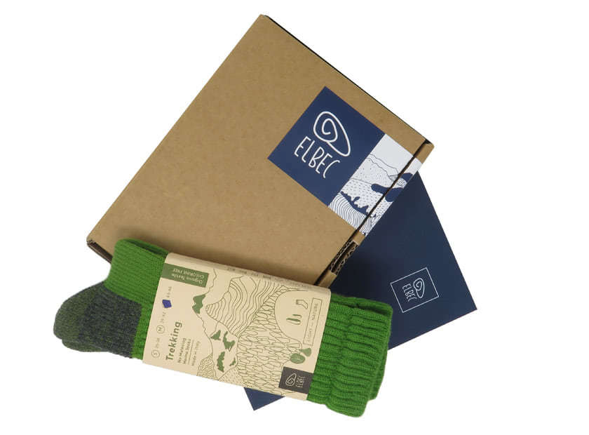 packaging for merino socks trekking
