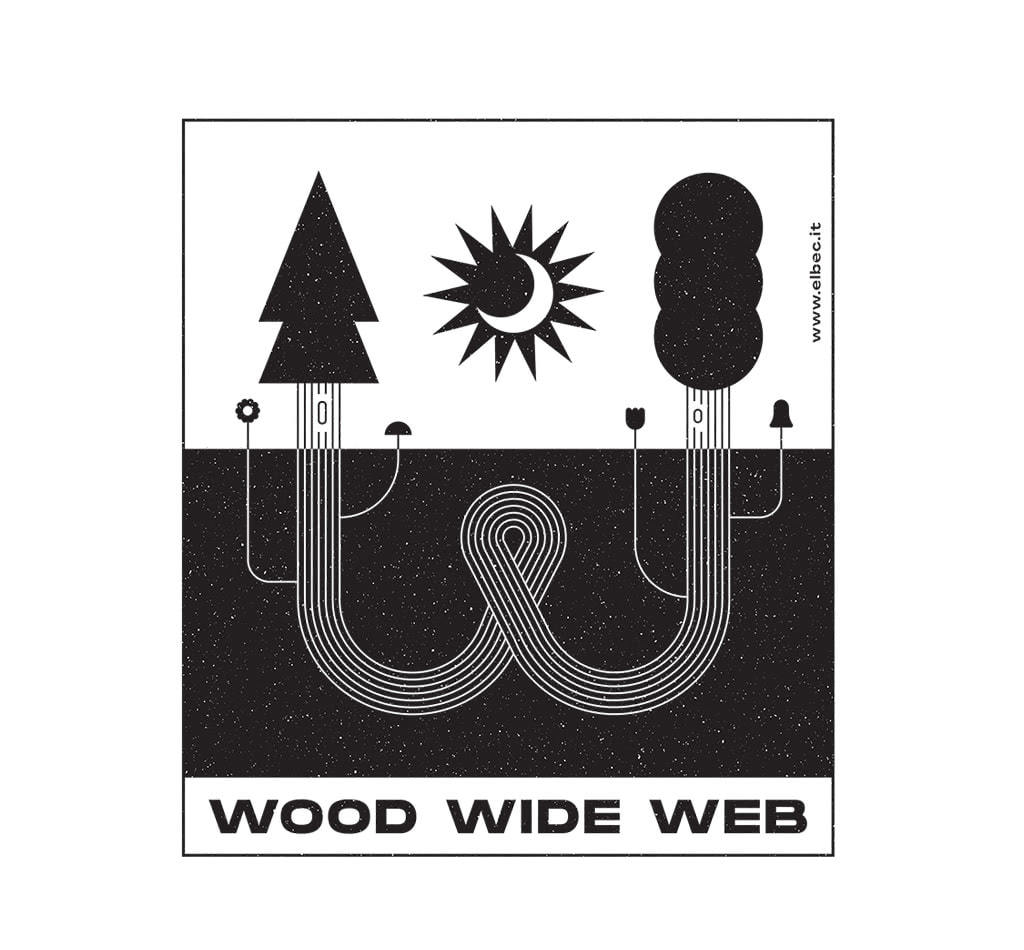 wood wide web tshirt