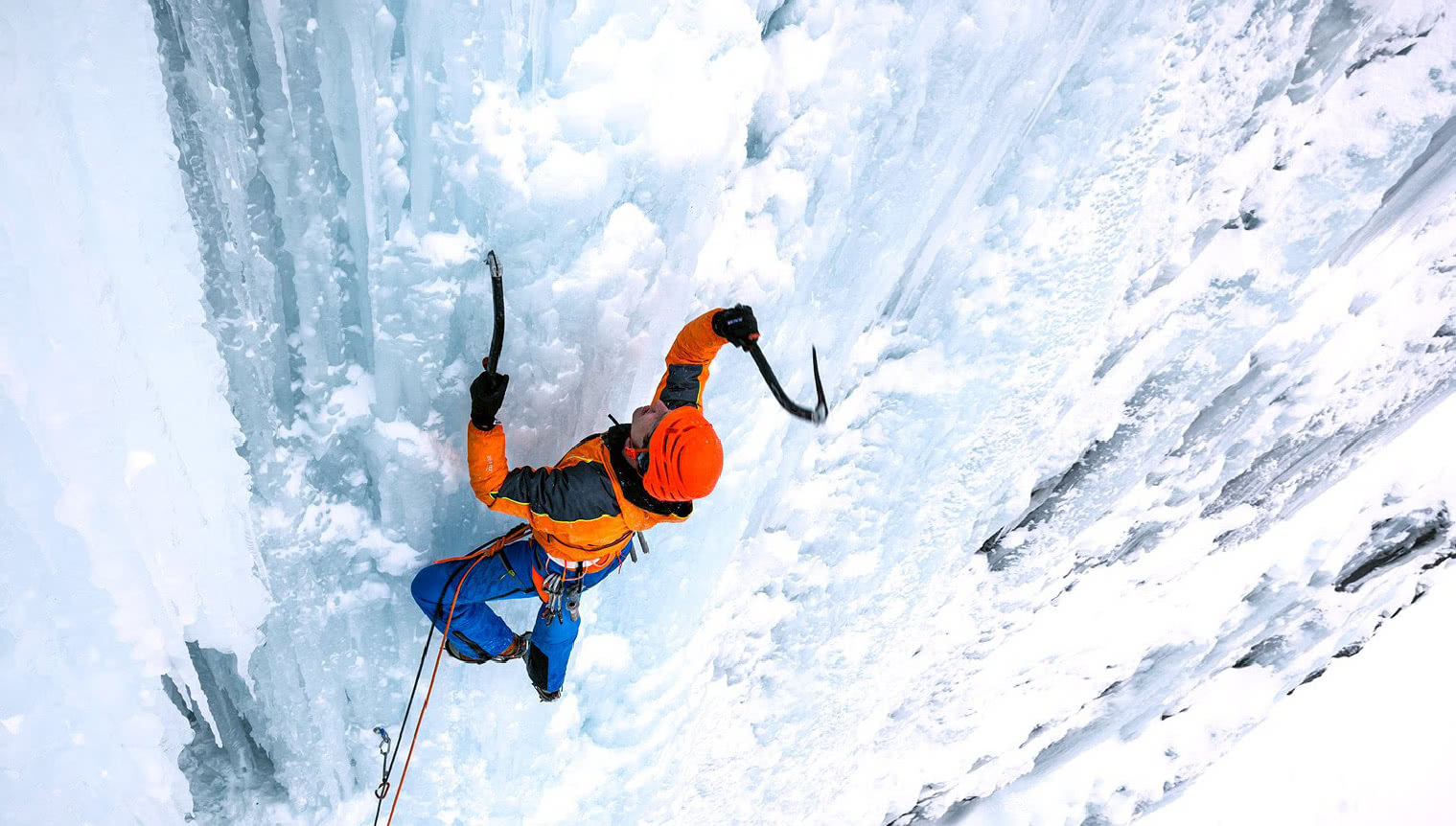 Technical socks for ice climbing