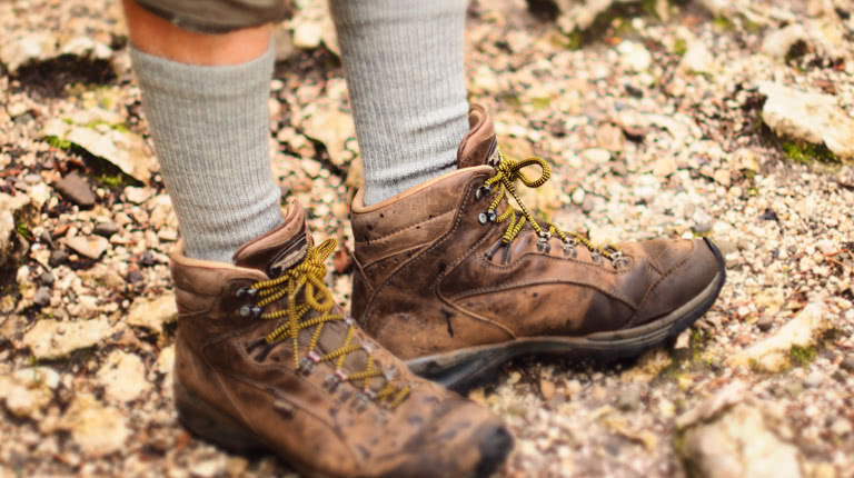 Wood socks hiking merino