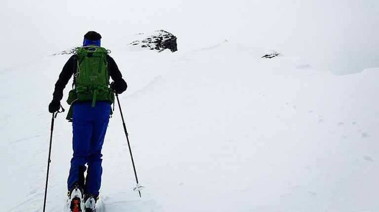 ski touring in mondeval